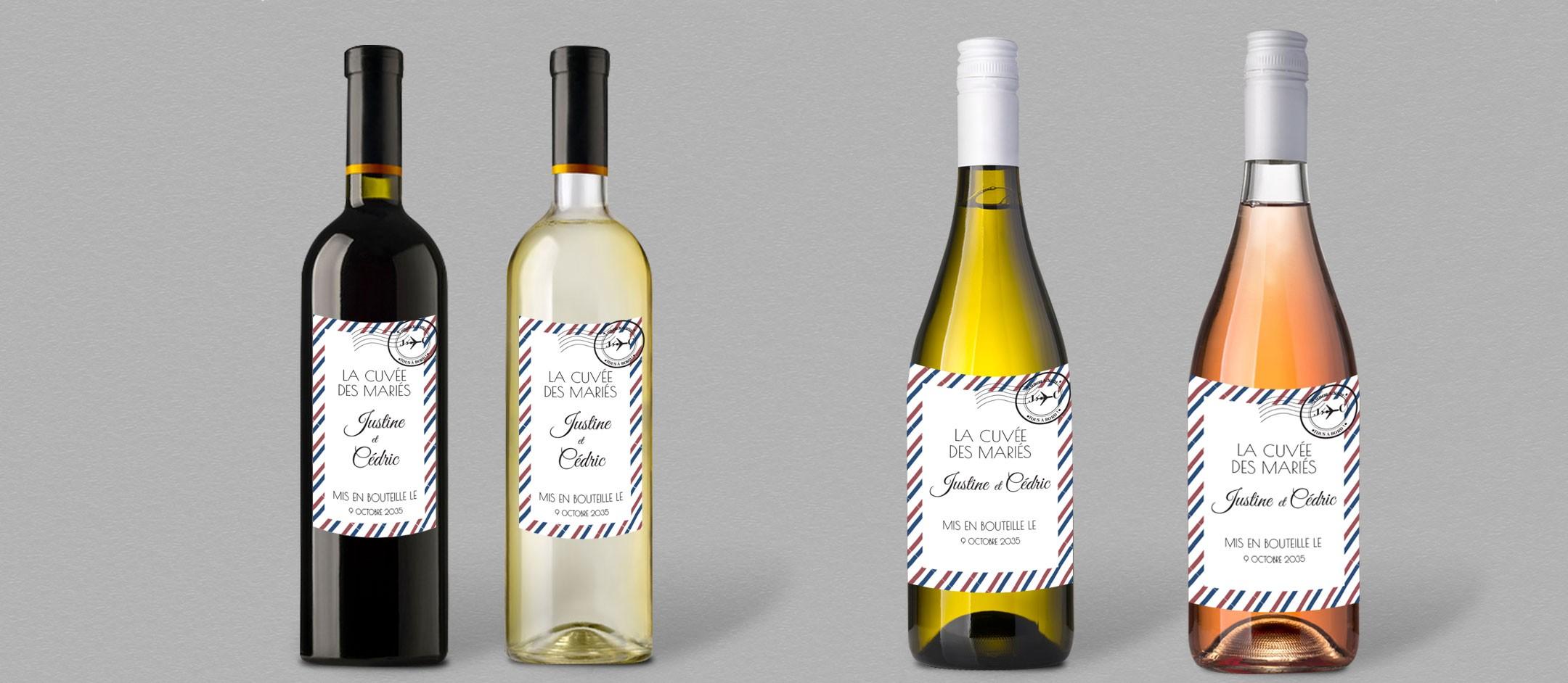 etiquette bouteille de vin personnaliser pour vos tables de mariage. Black Bedroom Furniture Sets. Home Design Ideas