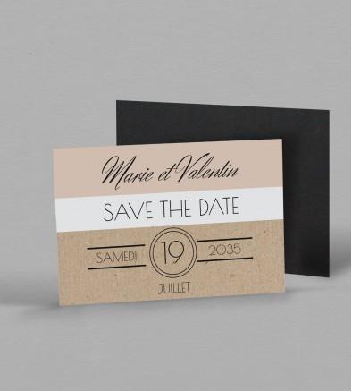 Save the date Magnet champêtre chic Adèle