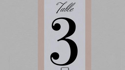 Numéro de table champêtre chic Juliette