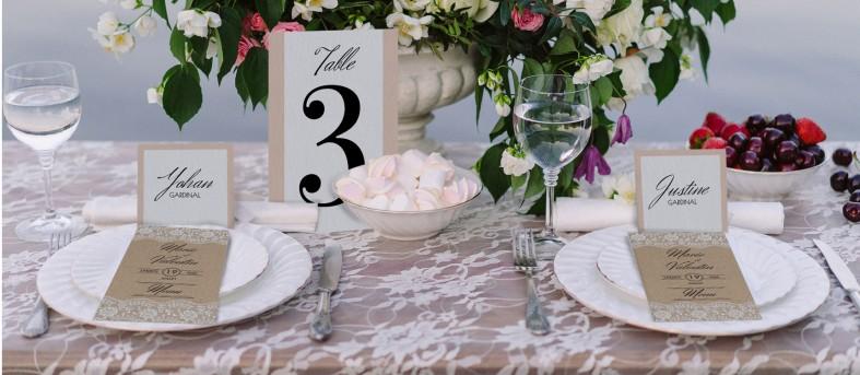 Plan de table champêtre chic Juliette