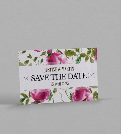 Save the date champêtre Angèle