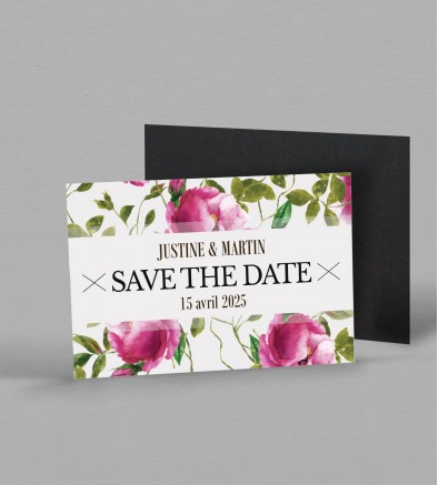 Save the date Magnet champêtre Angèle