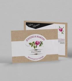 Carton réponse champêtre Angèle