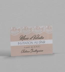 Invitation dîner Juliette