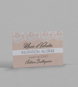 Invitation dîner Juliette