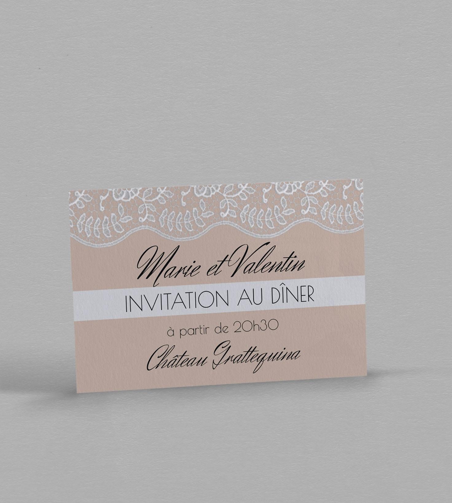Invitation Diner Juliette