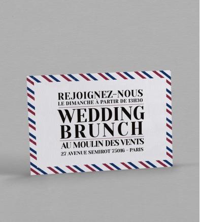 Wedding brunch Boarding Pass