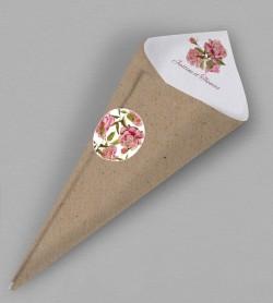 Cornet confettis champêtre Scarlett