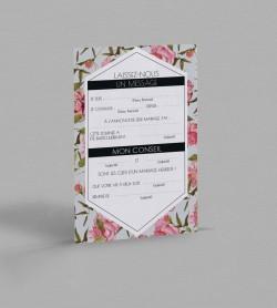 Carte urne champêtre Scarlett