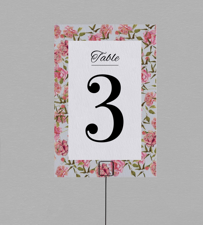 Numéro de table champêtre Scarlett
