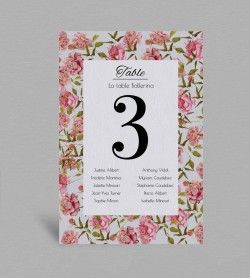 Plan de table champêtre Scarlett