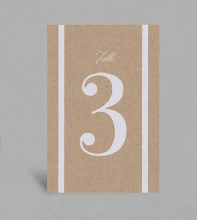 Numéro de table champêtre chic Colette