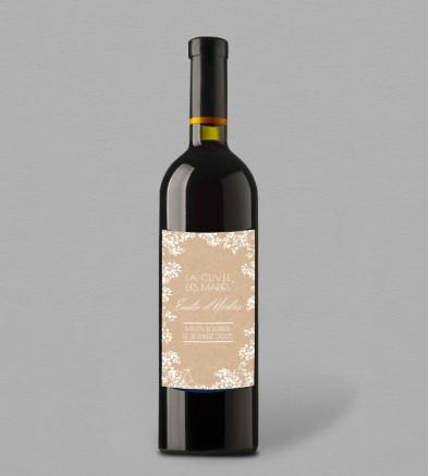 Etiquette bouteille de vin champêtre chic Colette