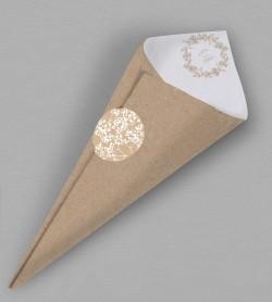 Cornet confettis champêtre chic Colette