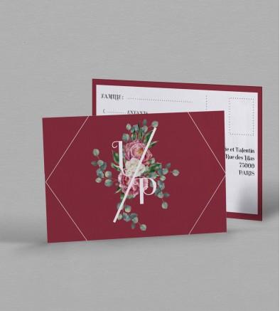 Carton réponse champêtre Gabriel