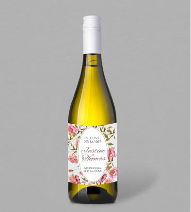 Etiquette bouteille de vin Champêtre Scarlett