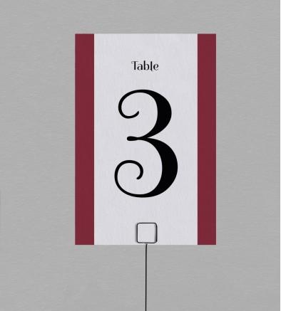 Numéro de table champêtre Gabriel