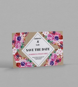 Save the date boho chic Flora