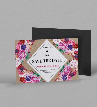 Save the date Magnet boho chic Flora