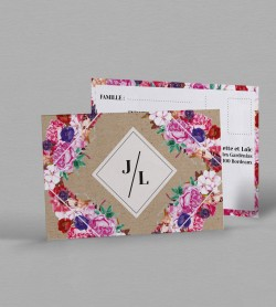 Carton réponse boho chic Flora