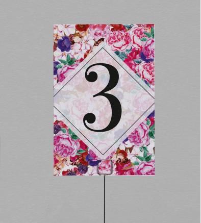 Numéro de table boho chic Flora