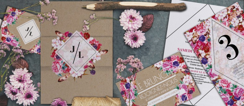 Plan de table boho chic Flora