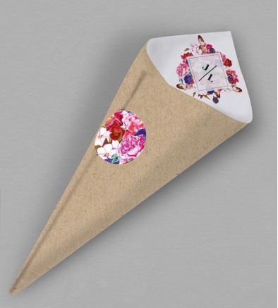 Cornet confettis boho chic Flora
