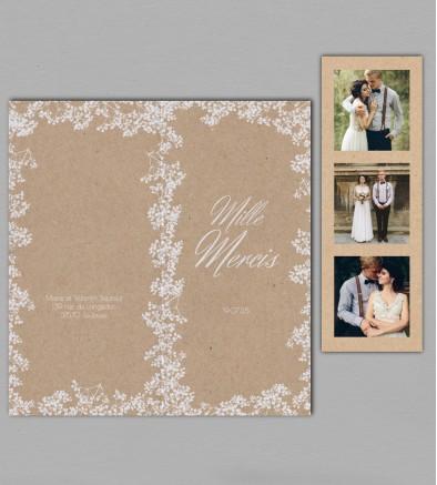 Remerciement mariage champêtre chic Colette
