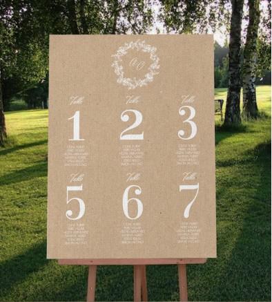 Plan de table champêtre chic Colette GM