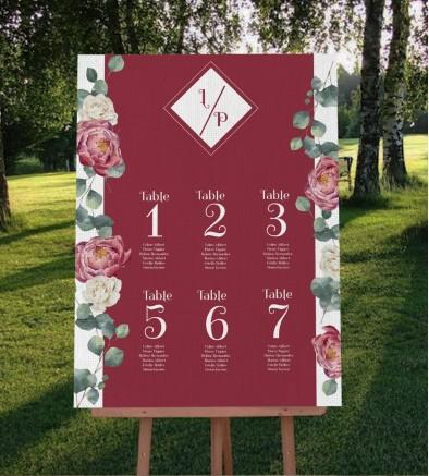 Plan de table champêtre Gabriel GM