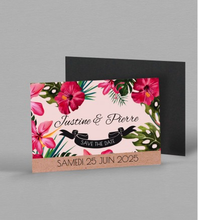 Save the date Magnet exotique Mandala