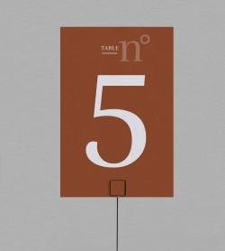 Numéro de table Terra Cotta