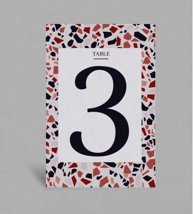Numéro de table Terrazzo