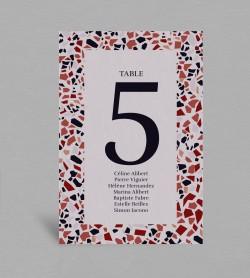 Plan de table Terrazzo