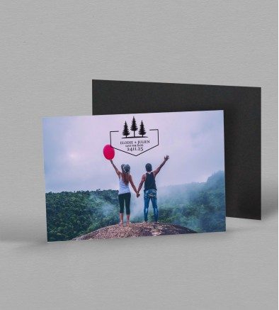 Save the date Magnet Champêtre Montagne