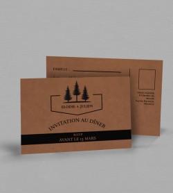 Carton réponse Champêtre Montagne