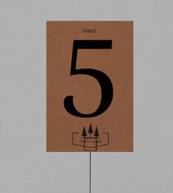 Numéro de table Champêtre Montagne