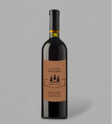 Etiquette bouteille de vin Champêtre Montagne