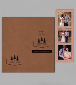 Remerciement mariage champêtre montagne