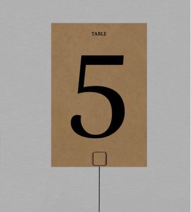 Numéro de table Champêtre Hortense