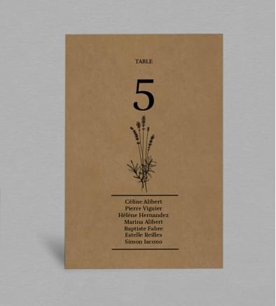 Plan de table champêtre collection Hortense