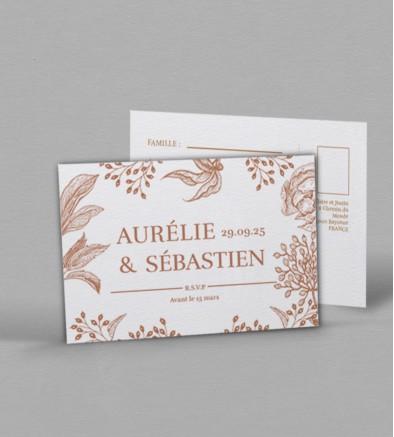 Carton réponse champêtre Garance