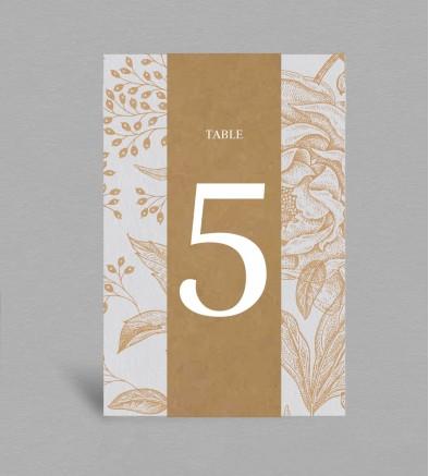 Numéro de table collection Garance