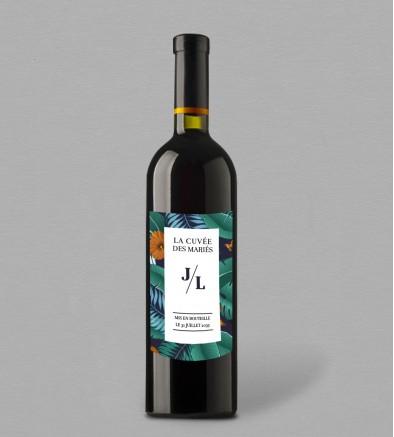 Etiquette bouteille de vin Palma
