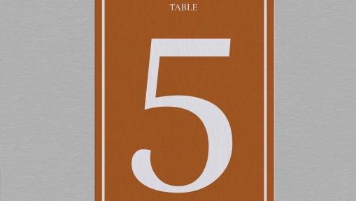 Numéro de table exotique Palma