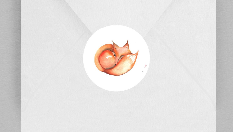 Macaron enveloppe Renard