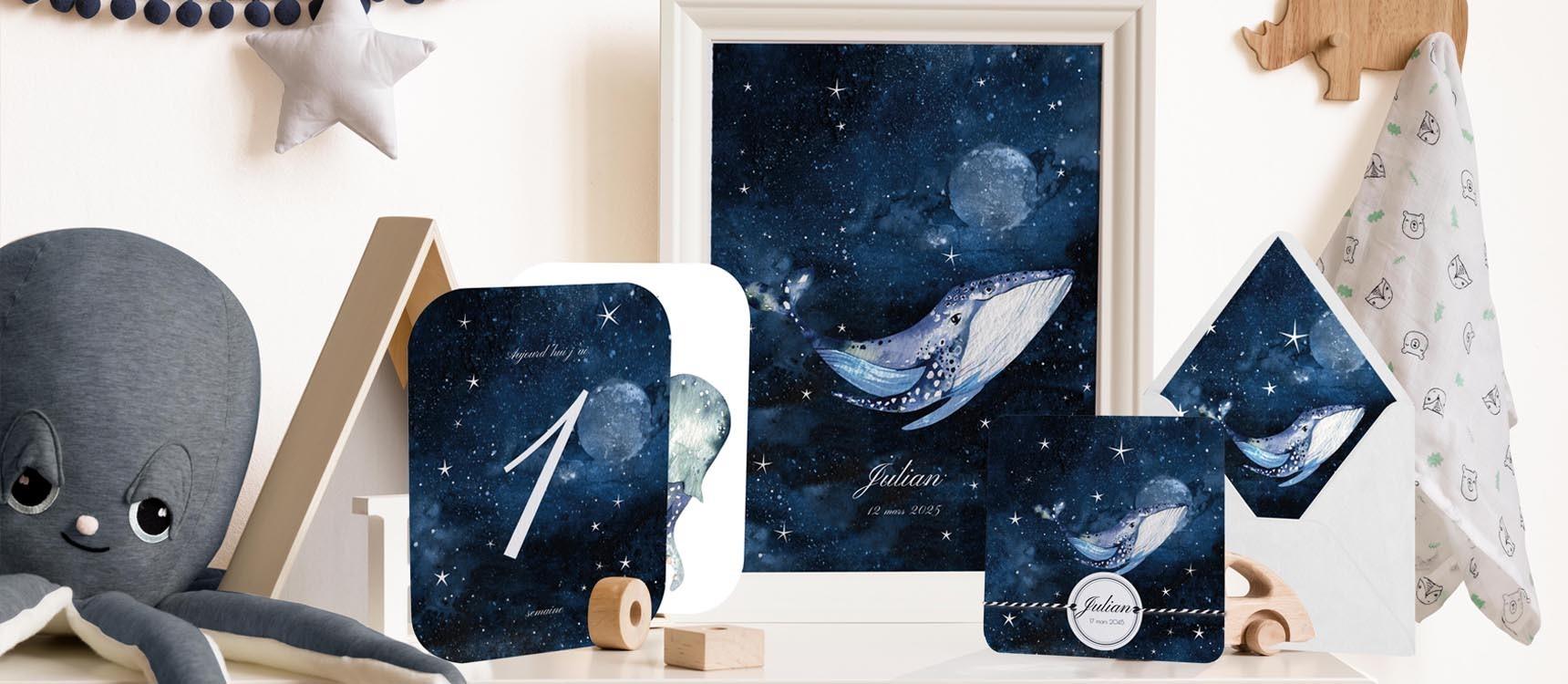 Macaron enveloppe Baleine