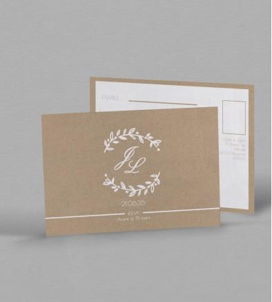 Carton réponse champêtre Eliette