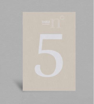 Numéro de table champêtre Eliette