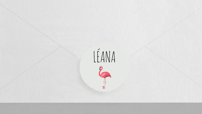 Macaron enveloppe Flamingo